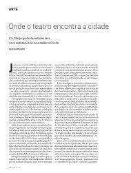onde o teatro encontra a cidade - Revista Pesquisa FAPESP