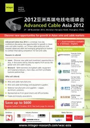 Advanced Cable Asia 2012 - Integer Research