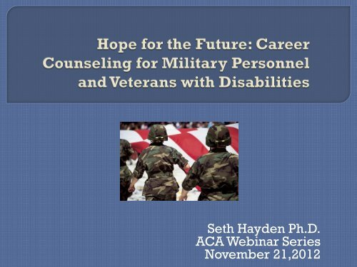 Counseling for Military Personnel and Veterans with Disabilities