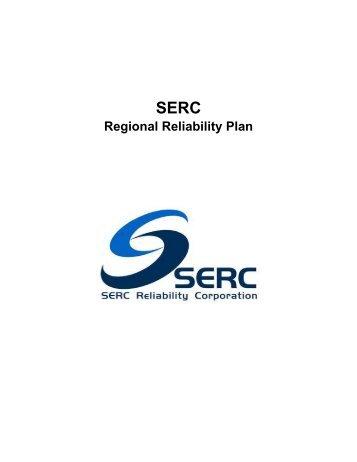 Regional Reliability Plan - SERC Home Page