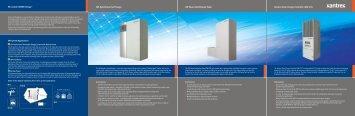 We enable GREEN energy™ XW Hybrid Inverter ... - Matrix Energy