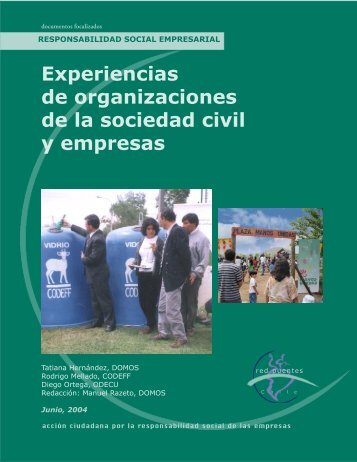 Experiencias de organizaciones de la sociedad civil y empresas