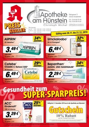 28% - Apotheke am Hünstein Dautphetal