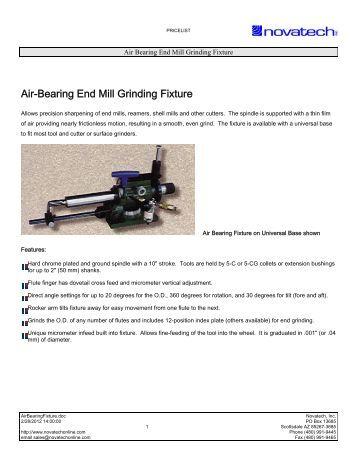 Air Bearing end mill sharpener - Novatech Inc.
