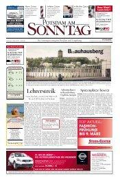 B(r)auhausberg Lehrerstreik - Potsdamer Neueste Nachrichten