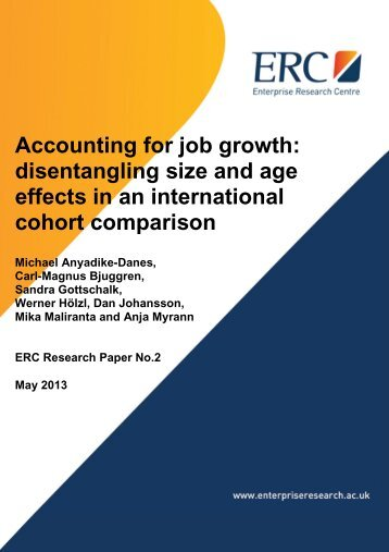 Accounting for job growth - Enterprise Research Centre