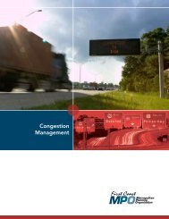 Congestion Management Summary Brochure - North Florida TPO