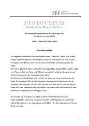 Ausstellungskonzept und Inhalte - Stiftung Brandenburger Tor