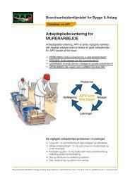 Faktablad om APV for murerarbejde - BAR Bygge & Anlæg
