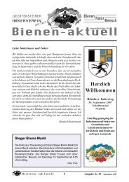 bienen-aktuell Nr. 35 - Liechtensteiner Imkerverein