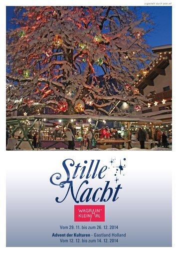 Stille Nacht Programm 2014