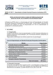 Edital - UFPR Litoral - Universidade Federal do Paraná