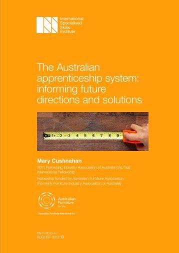 The Australian apprenticeship system - International Specialised ...