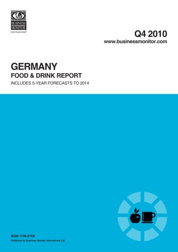 germany food & drink report q4 2010 - WU Libraries Blogs