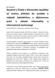 Studenti z České a Slovenské republiky se mohou přihlásit do ...