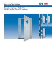Mehrfachverriegelungen G.U-SECURY - Herling Baubeschlag GmbH