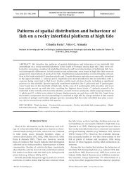 Patterns of spatial distribution and behaviour of fish on a rocky ...