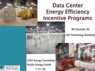 Data Center Energy Efficiency Incentive Programs - Critical Facilities ...