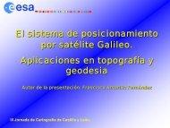 El Sistema de posicionamiento por satélite Galileo - ITACyL