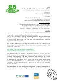 general info on Cinekid for Professionals - cifej
