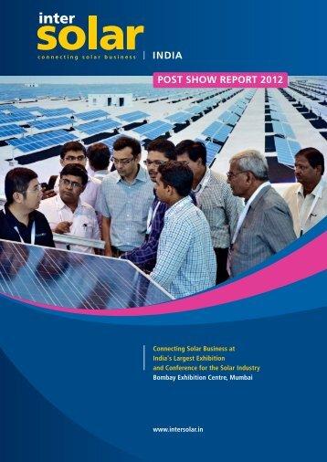 Download Post Show Report - Intersolar India