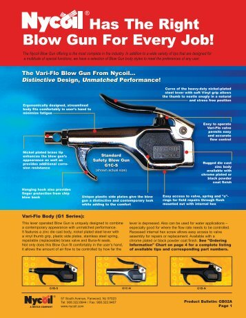 Nycoil Blow Gun - Douwes International B.V.
