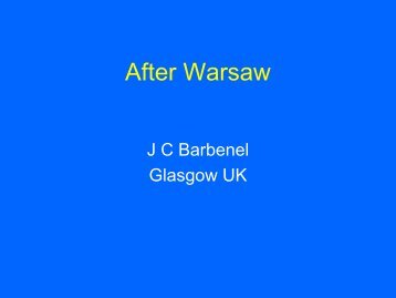 """Presentation of the """"after Warsaw"""" Criteria and Guidelines - biomedea"""