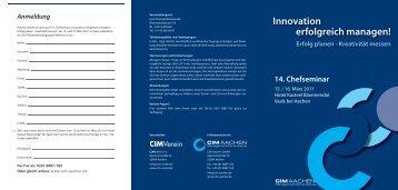2011 Chefseminar Flyer.indd - CIM Aachen