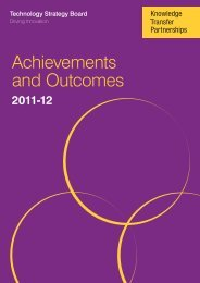 Achievements and Outcomes - Knowledge Transfer Partnerships
