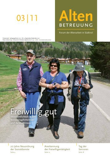 03 | 11 Freiwillig gut - Verband der Seniorenwohnheime Südtirols