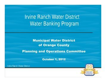 Status Update of the Strand Ranch - Municipal Water District of ...