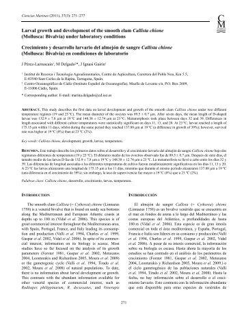 Larval growth.pdf - El Instituto Español de Oceanografía