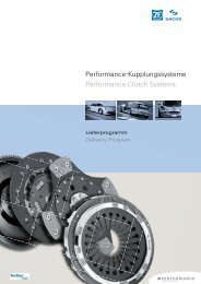 Performance-Kupplungssysteme Performance Clutch Systems - ZF ...