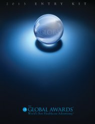 view 2013 rules and regulations - The Global Awards