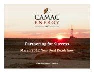 March 2012 Corporate Presentation - CAMAC Energy Inc.