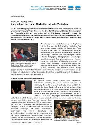 Kick-Off-Tagung 2012: Unternehmer auf Kurs – Navigation bei jeder ...