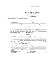 Oggetto: Domanda di iscrizione elenco fornitori di essere il legale ...