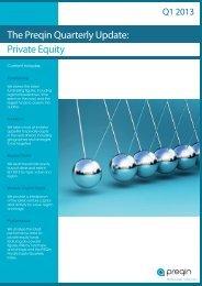 Preqin Quarterly Update: Private Equity, Q1 2013