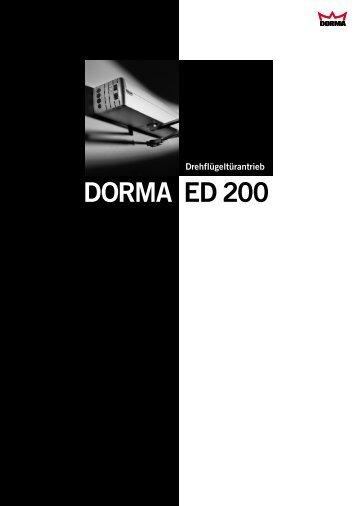 DORMA ED 200 - Herling  Baubeschlag GmbH