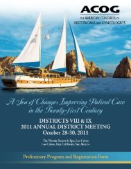 Meeting Registration Form - American College of Obstetricians and ...