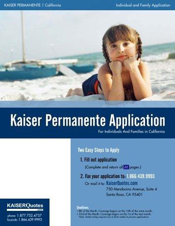 Kaiser Permanente Application - InsuranceDIY.com