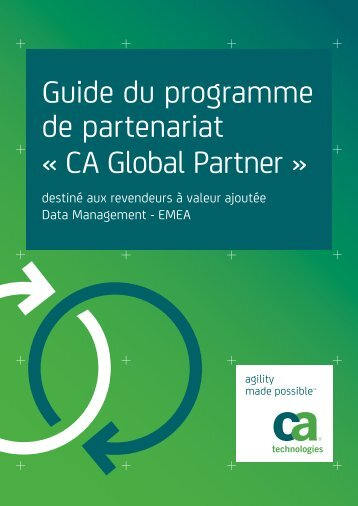 Guide du programme de partenariat « CA Global Partner » - ARCserve