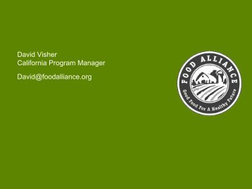 Certified Sustainable by Food Alliance