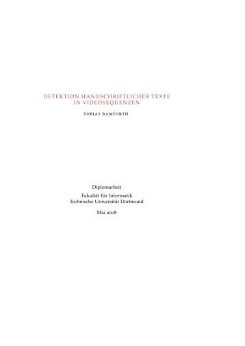 DETEKTION HANDSCHRIFTLICHER TEXTE IN ... - Gernot A. Fink