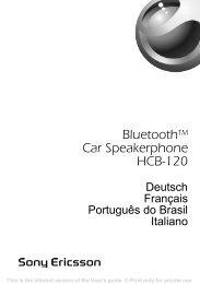 Bluetoothtm Car Speakerphone HCB-120