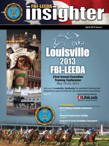 FBI-LEEDA Insighter magazine - April 2013/Issue I