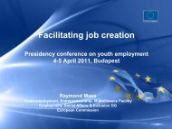 Youth employment - HUNGARIAN PRESIDENCY OF THE COUNCIL ...