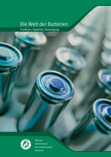 """Broschüre: """"Die Welt der Batterien - Funktion ... - GRS-Batterien"""