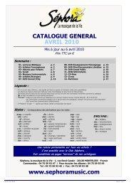 Catalogue Général MAJ 01/04/10 - Sephoramusic.com