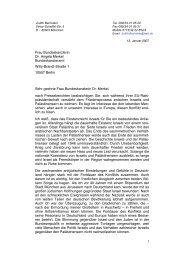 Frau Bundeskanzlerin Dr. Angela Merkel ... - Genfer Initiative